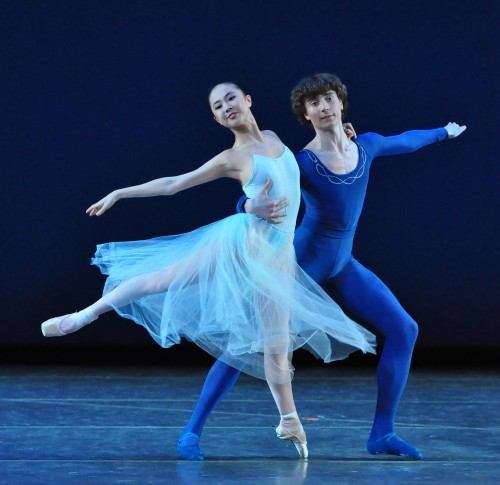 "Chloe Shelby and Joseph Warton in ""Serenade."" Photo: OBT School"