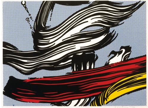 """Roy Lichtenstein, """"Brushstrokes,"""" 1967, screenprint, Collection of Jordan D. Schnitzer, Estate of Roy Lichtenstein"""