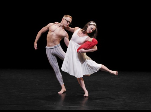 "Michael Trusnovec and Laura Halzack in ""Le Sacre du Printemps (The Rehearsal)""/Paul B. Goode, Paul Taylor Dance Company"