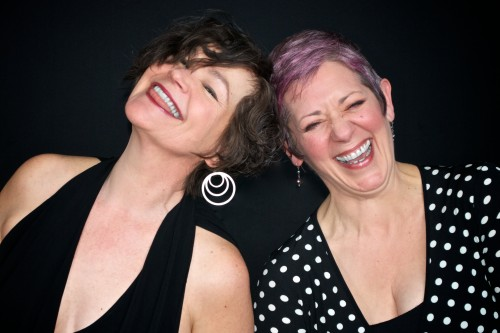 White and Rumbaugh, laughing it up. Kevin Paul Clark Photography