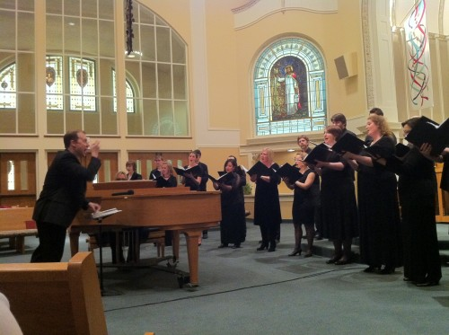 Ryan Heller conducted Portland Vocal Consort's 2013 Best of the Northwest concert.