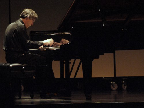 Arnaldo Cohen, Portland Piano International's artistic director, in recital at Portland's Newmark Theater. Photo by Jim Leisy.