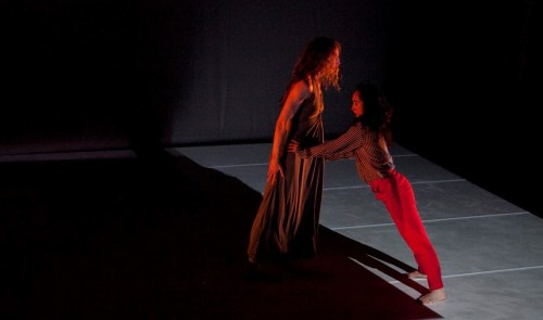 "Christine Bonansea's dancers recreate the hellish love triangle from Sartre's ""No Exit."""
