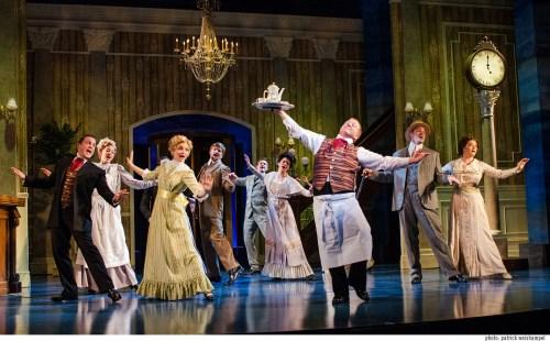 The ensemble cavorting at the Grand Hotel. Photo: Patrick Weishampel