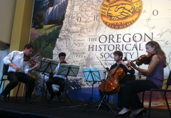 The Dover Quartet performed Monday at the Oregon Historical Society.
