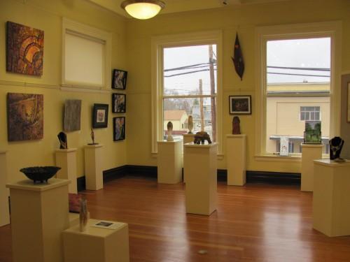 Gallery area of Crossroads Carnegie Art Center