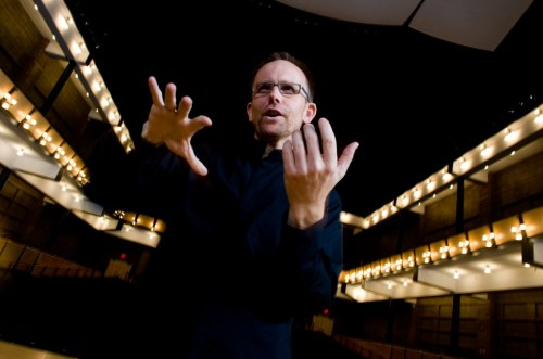 Craig Hella Johnson, of the Austin-based Conspirare choral ensemble, led the American Composers Chorus.