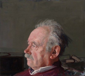 """Portrait of Henk Pander,"" Pieter Pander, oil on panel, approx. 15 x 15 inches, 2013"