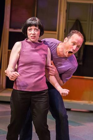 Kate (Maureen Porter) gives Petruchio (James Farmer) as good as she gets. Photo: David Kinder