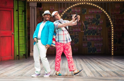 Lucentio (Wayne T. Carr, left) and Tranio (John Tufts)  at the Oregon Shakespeare Festival. Photo: Jenny Graham