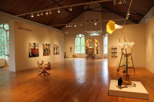 """A view of David Eckard's """"Deployment,"""" Art Gym"""