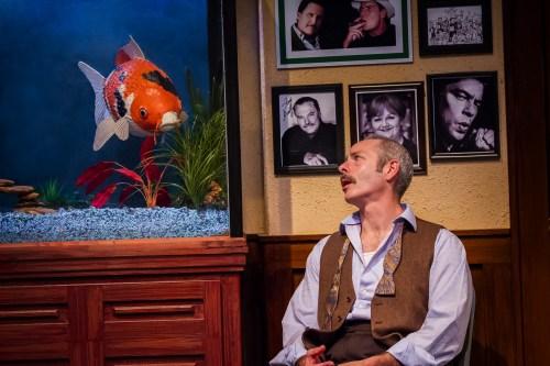 Denise listens; Felix (Michael Mendelson) talks./Owen Carey
