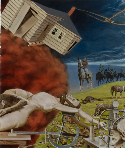 Houses and horses: Detail. Laura Russo Gallery