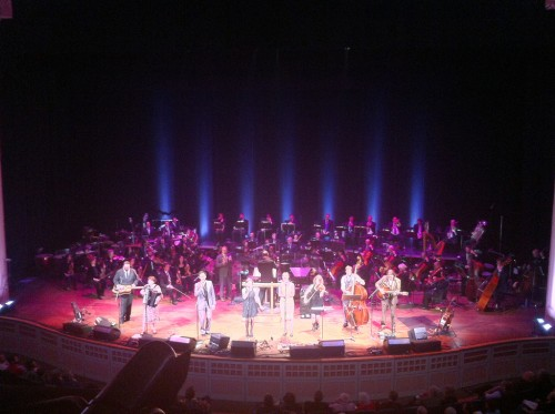 The Oregon Symphony performed with Portland indie rockers at Arlene Schnitzer Concert Hall.