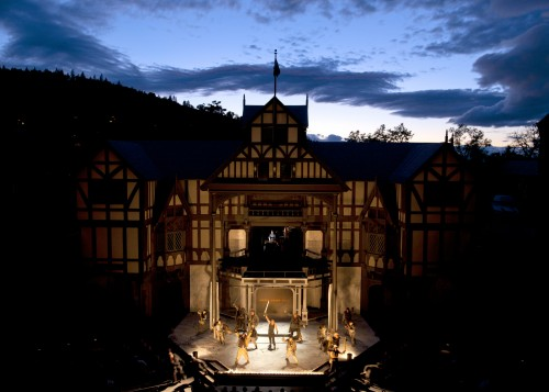 The Allen Elizabethan Theatre at the Oregon Shakespeare Festival./T. Charles Erickson
