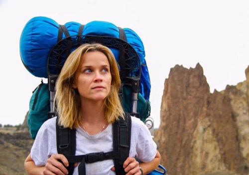 Reese Witherspoon as Cheryl Strayed on the Pacific Crest Trail.