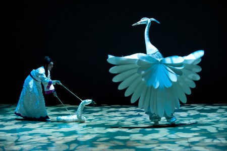 Mary Zimmerman's 'White Snake' for OSF is now appearing around the country./Jenny Graham