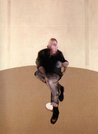 "Francis Bacon, ""Study for a Self Portrait,"" center panel/Wikimedia"