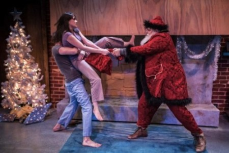 "In ""The Reason for the Season,"" Deanna (Foss Curtis) and James (Chris Murray) gang up on Kris Kringle./Owen Carey"