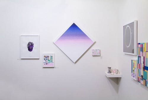 A wall at Nationale featuring work by Lindsay Kennedy./Nim Wunnan