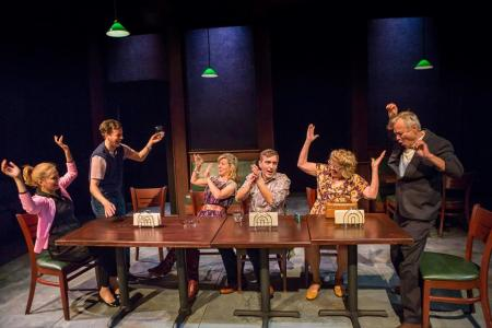 """The Big Meal"" at Artists Rep. Photo: Owen Carey"