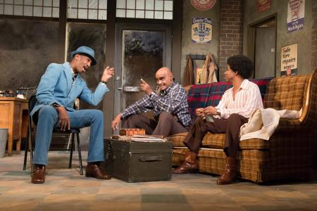 "Roy B. Ayers, Mujahid Abdul-Rashid, and Rodney Hicks in ""Jitney"". Photo: Brud Giles"