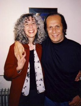 Claire Sykes with Paco de Lucia. Photo: Bob Priest.