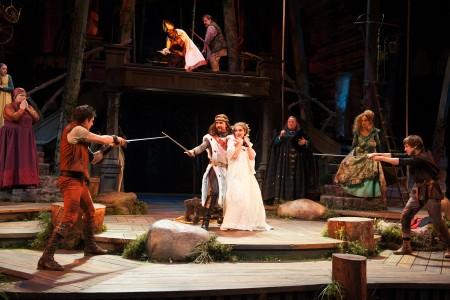 """Last season's outdoor """"Heart of Robin Hood: Swashbuckling, yes. Shakespeare, no. Photo: Jenny Graham"""