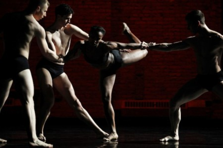 "Davalois Fearon  in the middle of Stephen Petronio's ""Like Lazarus Did""/photo by Julieta Cervantes"