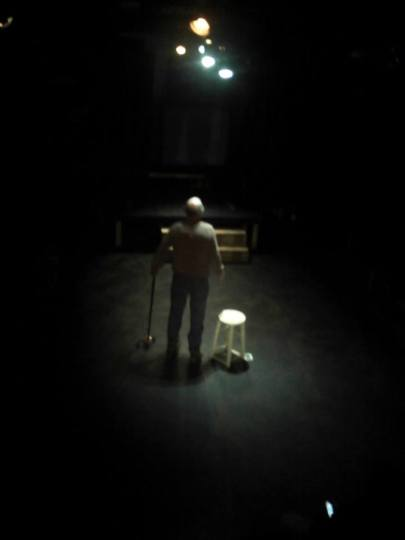 Ted Roisum is Lear at the Shoebox. Photo: NW Classical Theatre Company
