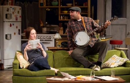"Armando McClain and Sofia Jean Gomez in ""Sidney Brustein,"" 2012. Photo: Jenny Graham"