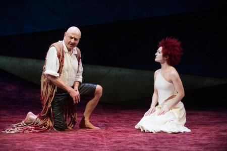 "Prospero (Denis Arndt) and Ariel (Kate Hurster) in ""The Tempest,"" 2012 Photo: Jenny Graham"
