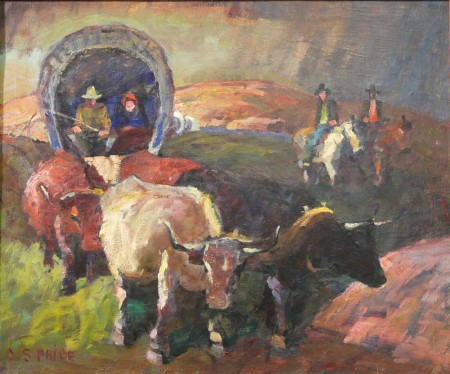 "CS Price, ""The Covered Wagon""/Portland Art Museum"