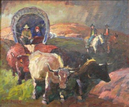 "CS Price, ""The Covered Wagon""/Portland Art Museum"