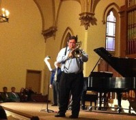 Aaron Levere performed at a CUC event at Portland's Old Church.