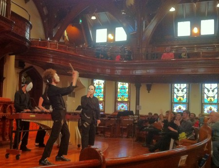 Oregon Percussion Ensemble performed in Portland's Celebration Works series.