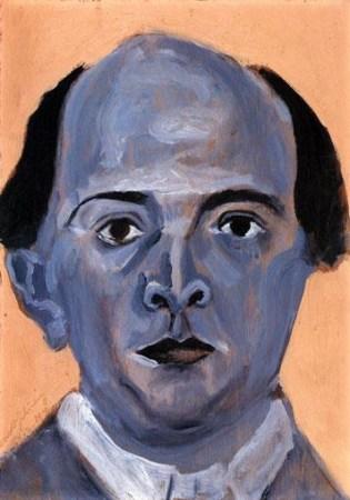 Arnold Schoenberg, Self-portrait, 1910.