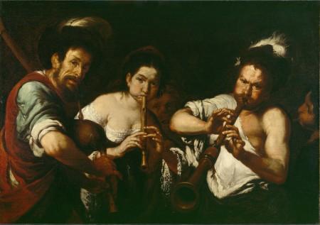 "Bernardo Strozzi, ""Street Musicians,"" 1634-37, oil on canvas, 43.3 x 61.6 inches, Detroit Institute of Arts. Photo: The Bridgeman Art Library"