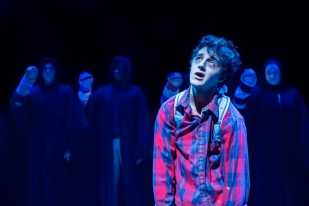 "Young performer co-winner Blake Peebles in original musical winner ""Zombie in Love."" Photo: Owen Carey"