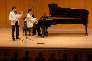 Benjamin Beilman and Melvin Chen perform Debussy's Sonata for Violin and Piano.