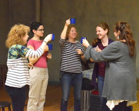 The hens in rehearsal for an all-night epiphany