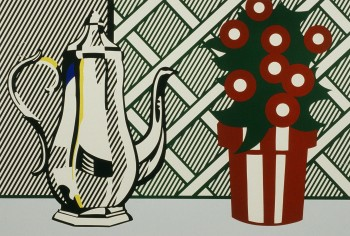 Roy Lichtenstein, Still Life with Pitcher and Flowers - 1974, lithograph and screenprint, 30-1/4 x 45-3/8 inches, Edition of 100