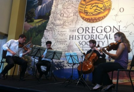 The Dover Quartet performs Tuesday and Wednesday at Chamber Music Northwest.