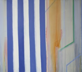 "Betty Merken Impromptu Ultramarine  2014 oil on canvas 60"" x 68"""