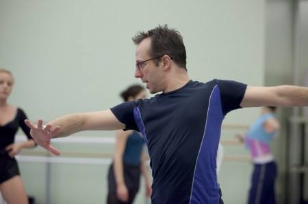 "Christopher Stowell rehearses ""Rite of Spring"" at OBT/Photo by Blaine Truitt Cover"