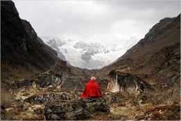 "Matthieu Ricard ""The Jango Thang plain and the Jomolhari glacier"" Bhutan, 2007 c-print 6 1/4"" x 9 1/2"""