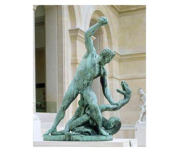 François Joseph Bosio (French, 1768–1845), Hercules Battling Achelus,1824, Bronze. Musée du Louvre, Paris