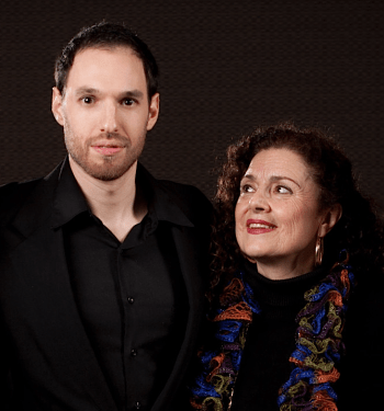 Composer Ethan Gans-Morse with Librettist Tiziana Della Rovere Photo: Anima Mundi Productions.