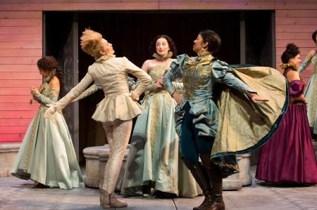 "Sofia Jean Gomez and Celeste Den in OSF's all-women version of ""Two Gentlemen of Verona""/Jenny Graham"