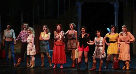 "The women's chorus in ""Best Little Whorehouse."" Photo: Craig Mitchelldyer"